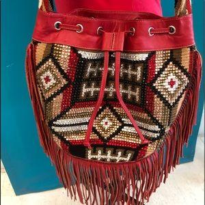 Rockwell Tharp Red Southwest Handbag